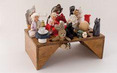 Rose Holzer / Alice'S Land / Socle en bois / 26 x 23 x 24 cm X 23, Alice, St Joseph, Rose, Floating Shelves, Artist, Home Decor, Atelier, Saint Joseph