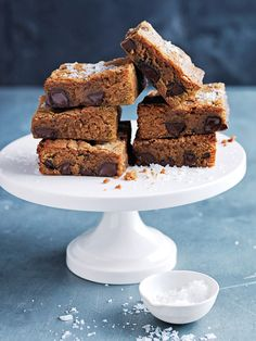 These gooey brownies, with molten chunks of chocolate, have the perfect amount of salty-sweet flavour.