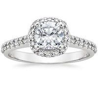 Top Engagement Rings - Fancy Diamond Halo Ring (1/3 ct.tw.)