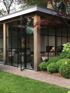 Glazen buitenruimte veranda