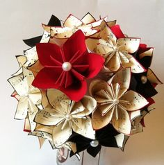 Paper Flower Centerpiece-one of a kind,made to order,wedding decor