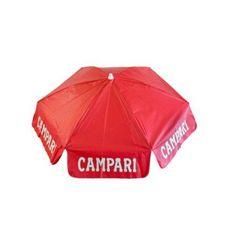 DestinationGear 6' Campari Vinyl Umbrella Beach Pole, Red