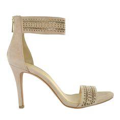 Open Toe Laser Cut High Heel