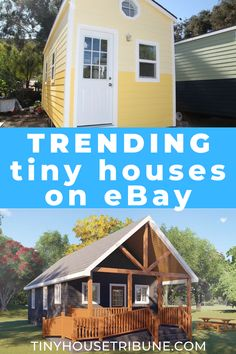 Check out the top tiny houses available on eBay. From kits to prebuilt tiny houses, the selection is awesome!  #ad #tinyhousemovement #tinyhouses #tinyhouseonwheels #smallhouse #smallhouseplans #tinyhomes #tinyhomescost #tinyhomesideas