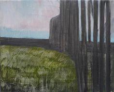 """Mykolé, """"Parc"""", 2012, 33 x 41 cm, Oil, canvas. Contemporary landscape paintings."""