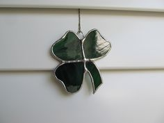 Vidrieras en vidrio translúcido tenue verde por StainedGlassJewels