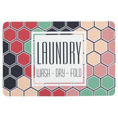 Colorful Hexagons Laundry Floor Mat