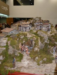 Christmas Tree Village, Christmas Nativity Scene, Christmas Crafts, 40k Terrain, Wargaming Terrain, Birth Of Jesus, Diy Wall, Castle, Diy Crafts