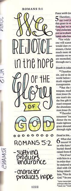 Romans 5:2  Creative Journaling — Karlie Winchell   Creative Designer