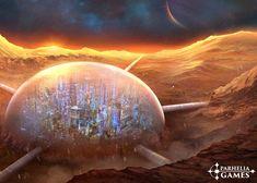 Mars Doomed City by jsek on DeviantArt Futuristic City, Futuristic Architecture, Fantasy City, Sci Fi Fantasy, Hard Science Fiction, Life Science, Mars Colony, Sci Fi City, Hero's Journey