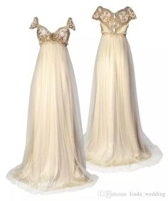 1800 Victorian Style Wedding Dresses Regency Inspired Vintage Discount Elegant A Line Formal Long Bridal Party Gowns 1800 viktorianischen Stil Brautkleider Regency inspiriert Vintage Rabatt [. Wedding Dresses For Sale, Wedding Gowns, Party Gowns, Trendy Wedding, Wedding Tips, Bridal Gowns, 20s Wedding, Wedding Scene, Wedding Simple