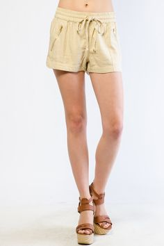 CASUAL SOLID SHORTS $13.99