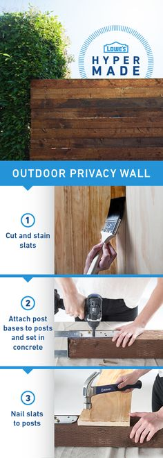 Feel like all eyes are on you? Add a privacy wall to your deck so you can relax without your neighbor bothering you. Click the image for complete project details and instructions.