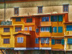 Fotografía Houses of the Ponte Vecchio at Florence por Gabi Hampe en 500px