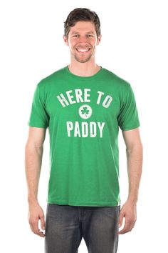 Mens Here To Paddy Tee | Tipsy Elves