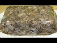 The Wolfe Pit makes a Souse Loaf. Souse loaf is similar to Head Cheese, but it's made with various parts of the pig to include pigs feet and neck bones. Sausage Recipes, Cheese Recipes, Pork Recipes, Cooking Recipes, Southern Pork Souse Recipe, Souse Recipe Pork, Baby Ribs Recipe, Sauces, Cheese