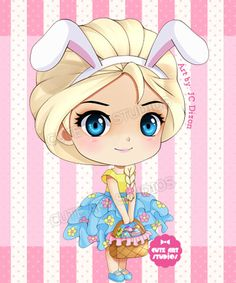 Easter Elsa Chibi by crowndolls