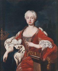 Retrato de la reina doña Bárbara de Braganza, esposa de Fernando VI  JOSÉ VERGARA XIMENO