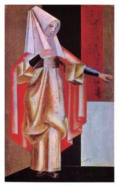 "Александр Веснин.  Эскиз костюма к трагедии Ж. Расина ""Федра"". 1922"