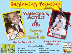 Artist and art educator Barry Stebbing has created a fairly comprehensive Beginning Painting kit with DVD instruction, paints, brushes, and paper. Stebbing teaches water color painting with both marker and watercolor sets as well as painting with acrylics and oils.