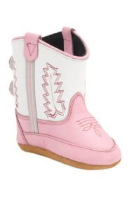 Old West® Poppet? Pink w/White Top Western Infant Booties | Cavender's