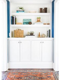 built in shelf white shelves floating shelves modern storage