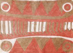 Le tissu teint de Nina Evrard (6 ans) © éjc