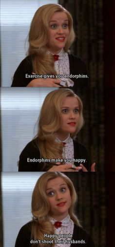 Happy people don't shoot their husbands :-) -Elle Woods, Legally Blonde my favorite movie Movies Quotes, Tv Quotes, Funny Movie Quotes, Funny Movies, Funny Movie Scenes, Cinema Quotes, Girly Movies, Ironic Quotes, Teen Movies