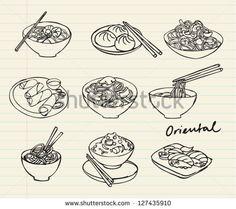 noodle illustration - Google 검색