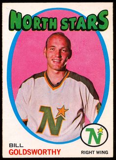 1971 72 Topps 55 BILL GOLDSWORTHY NM MINNESOTA NORTH STARS HOCKEY CARD #Minnesotanorthstars Hockey Shot, Pro Hockey, Hockey Games, Minnesota North Stars, Minnesota Wild, Wild North, Stars Hockey, Hockey Players, Trading Cards
