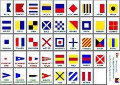 nautical flags... I'm going to try to make this into a cross stitch pattern