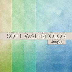 Blue Teal Green Lime Cool Ocean Colors Summer by DaydrifterDigital
