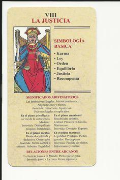 LA JUSTICIA: Tarot Significado, Le Tarot, Occult Science, Mystical World, Tarot Card Meanings, Palmistry, Card Reading, Book Of Shadows, Tarot Decks