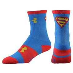 Under Armour Super Hero Crew Socks - Boys' Grade School - Training - Accessories - Blue/Yellow