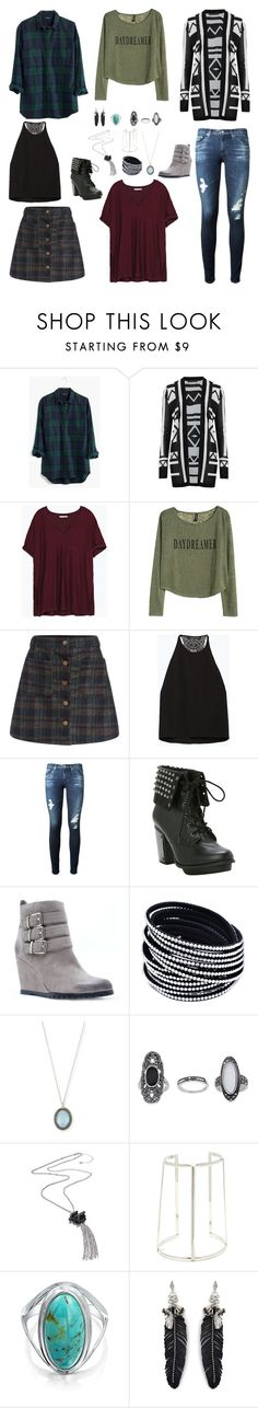 """Bella And The Bulldogs - Sophie Inspired Outfits"" by verostyle16 ❤ liked on Polyvore featuring Madewell, M&S Collection, Zara, H&M, AG Adriano Goldschmied, Qupid, Armenta, Topshop, Bling Jewelry and Rebecca Minkoff"