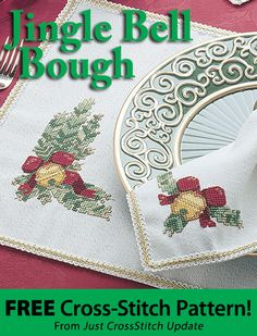 Jingle Bell Bough Download from Just CrossStitch newsletter. Click on the photo to access the free pattern. Sign up for the newsletter here: AnniesNewsletters.com