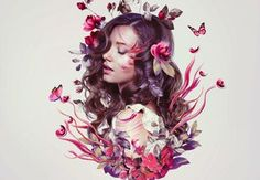 How to Create a Floral Portrait Photo Manipulation in Adobe Photoshop (Vectortuts)
