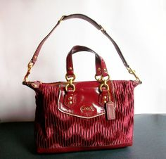 'BNWT, F20084 Coach Ashley Gathered Satin Satchel' is going up for auction at  5pm Sat, Oct 5 with a starting bid of $1.