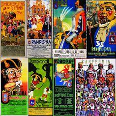 Diario de San Fermín: Las cuatro caras de Caravinagre en los carteles de San Fermín y la presencia de la comparsa