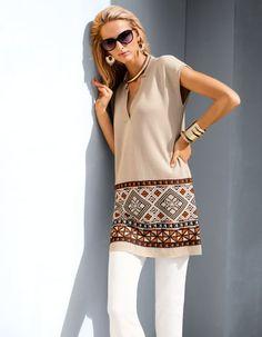 Tunic, Trousers, Sunglasses, Bracelet, Necklace, Bracelet