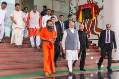 With honourable  Prime Minister shri Narendra Modi ji at At Patanjali Yogpeeth, Haridwar.