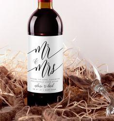 Wedding Wine Labels, Wedding Wine Bottles, Custom Wine Labels, Wine Bottle Labels, Wine Label Design, Label Paper, Label Templates, Printable Labels, As You Like