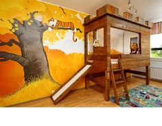 Calvin and Hobbes children's room