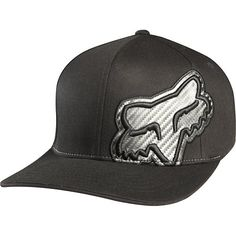 52650d6b31 Fox Racing Carbonation Men s Flexfit Outdoor Hat Cap - Black   Large X-