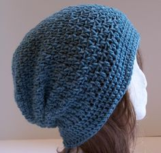 Ginger Slouchy Hat by designer Yarn Confections: free crochet pattern