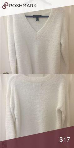 7f714a7c41 White sweater White fuzzy sweater