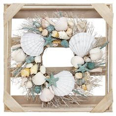 Great for Preserved 20 Seashells Wreath by Rosalind Wheeler Home Decor Furniture from top store Seashell Wreath, Twig Wreath, Seashell Crafts, Beach Crafts, Burlap Wreath, Coastal Wreath, Seashell Art, Crafts With Seashells, Seashell Decorations