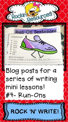 Free Ideas-  A blog post to help your students learn to correct run-on sentences.  Designed by Rockin Resources