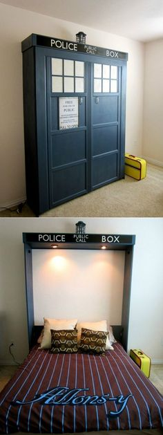The Perfect Murphy Bed--OMG, if I ever have a guest room, this is the murphy bed I NEED :o