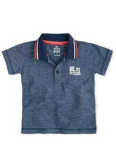 Camisa polo bebê menino em malha fio a fio hering kids  4b07f6444f94